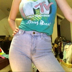Lite blue High waisted American Apparel jeans!!